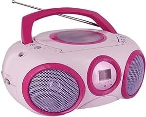 Lecteur Radio CD portable CD32 (Rose)