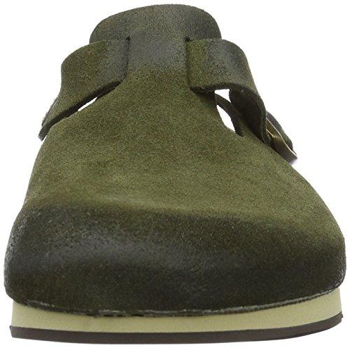 Birkenstock Unisex-Erwachsene Boston Clogs Grün (Olive Finish)