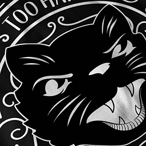 Leben Hart Sein Katze Komisch Damen S-2XL Muskelshirt | Wellcoda Black