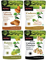 Nutraj Daily Needs Dry Fruits Combo Pack 1 Kg (Almonds 250g