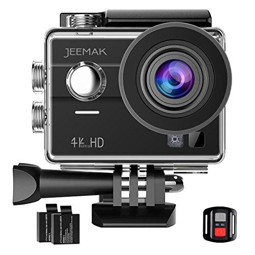 JEEMAK-Cmara-Deportiva-4k-Cmara-de-Accin-WiFi-Cmara-Sumergible-hasta-30m-y-Amplio-ngulo-de-Visin-170DVR-Tctil-Screen-Videocmara-con-Control-Remoto-2-Bateras-Recargables-y-Kit-de-Accesorios
