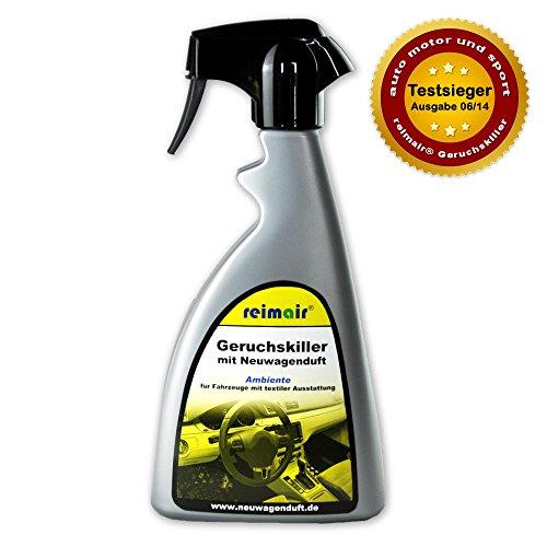 reimair New Car Geruchskiller Ambiente Profi Lufterfrischer mit Neuwagenduft 500 ml für Textilausstattung -