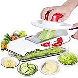 Tritatutto multifunzione da cucina affettaverdure affettatrice di frutta Affettaverdure Taglia verdure Chopper frutta e verdura (Color : Bianca, Size : 26x11x12cm)