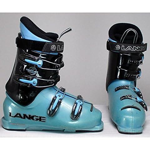 Chaussure de ski occasion junior Lange Team 7/8R noir et bleu