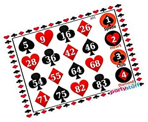 Party Stuff Playing Cards Theme Tambola Housie Tickets - Playing Cards Points kukuba 1 - Classic Kukuba (16 Cards) | Kitty Games