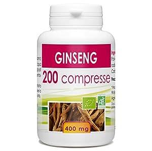 Ginseng rosso - box di 200 bio compresse di 400 mg.