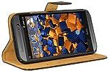 mumbi Ledertasche im Bookstyle für HTC One M8 / M8s Tasche schwarz