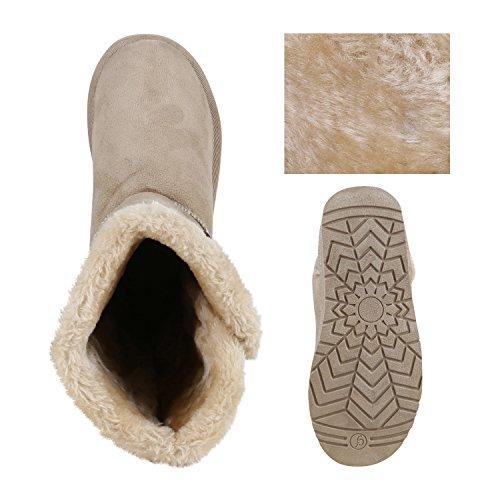 Botas Sapatos Inverno Escorregar Femininos Botões Botas De Botas Creme De qaatPw