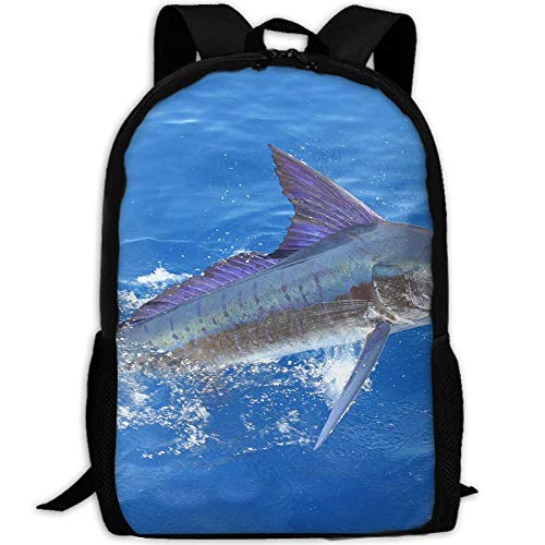 Stripe Marlin Fish Adult Travel Backpack School Casual ypack Oxford Outdoor Laptop Bag College Computer Shoulder Bags