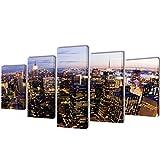 WEILANDEAL Panoramaaussicht Set Gewebeband, Wandsticker New York 200x 100cm Panels paredespesor: 1,8cm