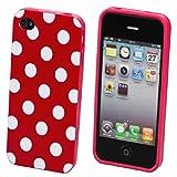 ECENCE Schutzhülle für Apple iPhone 4/4S rot/Weiß