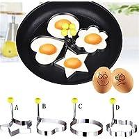 Idea High A: Molde de acero inoxidable para huevos fritos, panqueques, utensilios de