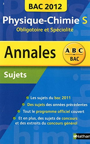 ANNALES BAC 2012 PHYS-CHIMIE S