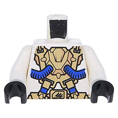 LEGO® Torso Exo-Force Gold Panels with Black Edges with Violet