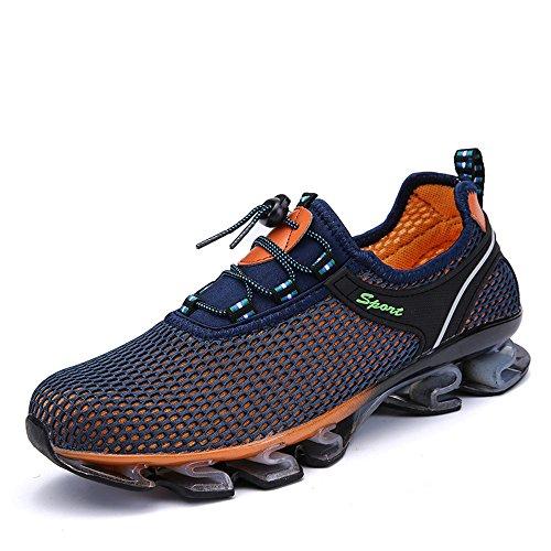 Scarpe sportive maschili ammortizzanti Scarpe da ginnastica antiscivolo Confortevoli scarpe da ginnastica in pizzo Marine