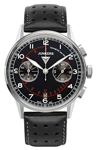 Junkers Herren Chronograph Quarz Uhr mit Leder Armband 69702
