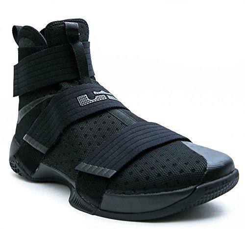 Nike 844374-001, espadrilles de basket-ball homme Noir