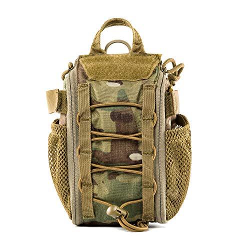 OneTigris MOLLE Militär Taktische Schnell EMT, Erste Hilfe Tasche Set für Reisen Camping Wandern Radfahren Outdoor Jagd und Abenteuer |MEHRWEG Verpackung