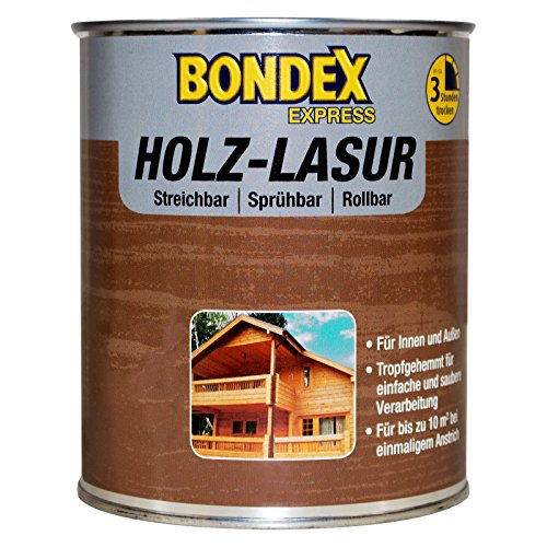 Bondex Express Holz-Lasur Weiß 0,75 l - 330331