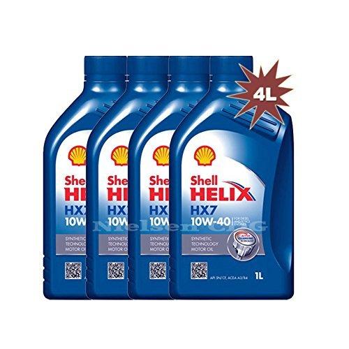 Shell Helix Diesel HX7 10w40 Olio Motore Diesel Semisintetico API CF ACEA A3/B3/B4 4 barattoli da 1 Litro = 4 Litri (Euro/lt 7,00)