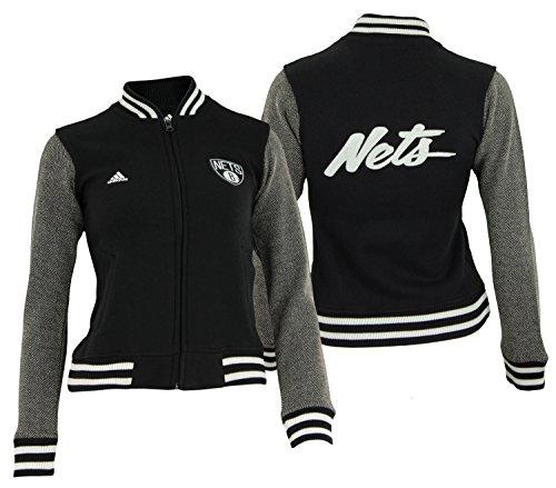 adidas NBA Girl 's Brooklyn Nets Varsity Jacke, Mädchen, schwarz, Medium (10-12) (Für Varsity-jacke Mädchen)