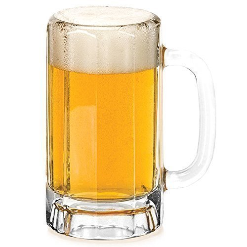 Con paneles Jarras De Cerveza 379ml - Juego de 4 Vidrio Cerveza Jarras