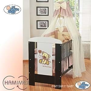 Kinderbett Für Baby : hamimex my sweet baby kinderbett gitterbett 11 teile ~ Watch28wear.com Haus und Dekorationen