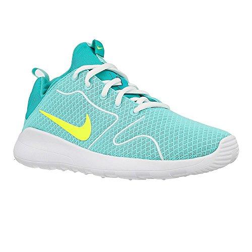 Nike Kaishi 2.0 (Gs), Scarpe da Corsa Bambina Turquesa (Hyper Turq / Volt-Clear Jade-White)