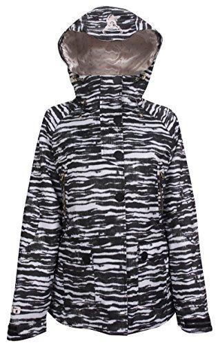 EIRA (Damen-Mobiltelefon Jacke, Damen, Zebra Stripe, M