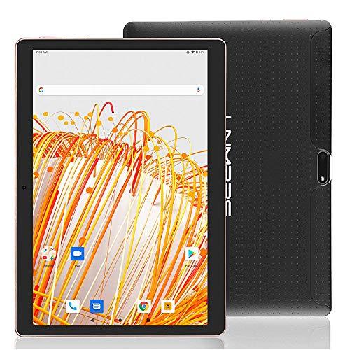 tablet android 10 LNMBBS Tablet Android 9.0 da 10    con WiFi 4 GB di RAM e 64 GB di memoria Tablet PC Processore quad-core e slot Dual SIM e una fotocamera GPS OTG con slot TF (Nero)