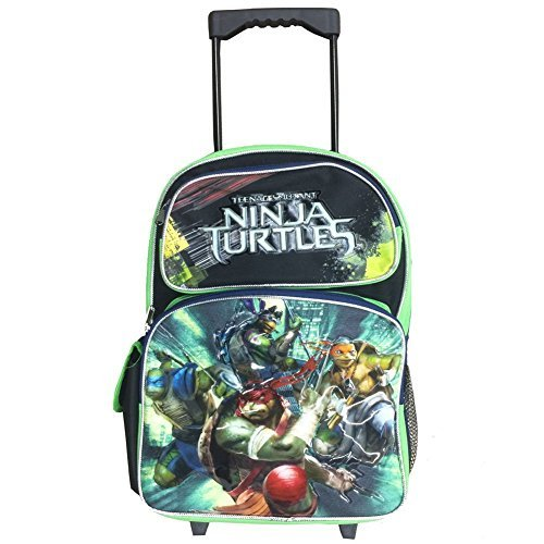Nickelodeon Ninja Turtles Large 16 Full-size Rolling Backpack - Shell Power (Ninja Turtles Shell Backpack)