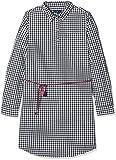 TOM TAILOR Kids Mädchen Kleid Checked Dress with Belt, Blau (Black Iris Blue 6740), 152