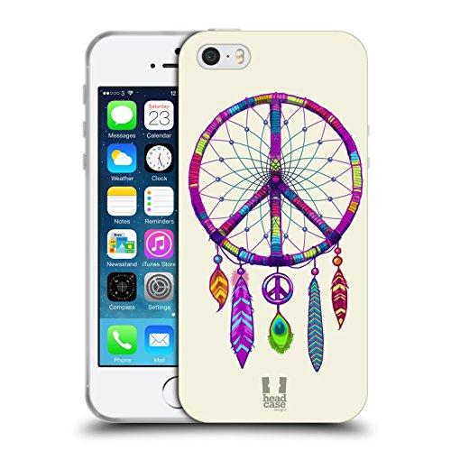 Head Case Designs Rasta Emblèmes De Paix Étui Coque en Gel molle pour Apple iPhone 5 / 5s / SE Attrapeur