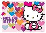 Stor, 82219, tovaglia singolo Hello Kitty hearts. tovaglia plástico. non BPA