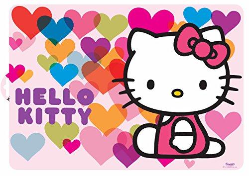 Stor, 82219, Set de table Hello Kitty Hearts. Nappe de plástico. no BPA