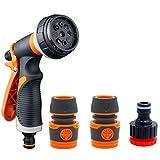 Best Metal Hose Nozzles - Hose Spray Gun Multifunctional Spray Nozzle Metal Watering Review