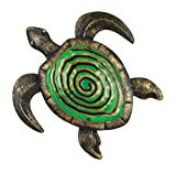 Wand-Deko - Metall Wand Decor 28 Bronze Turtle - wetterfest - Abmessung: 28x33cm - inkl. Aufhängung