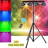 Sound Active DMX LED Par Disco Club DJ Lichteffekt RGBW Lichtstrahler Kit mit Ständer