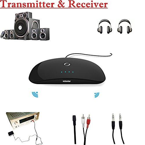 VICTORSTAR @ Bluetooth Audioübermittler / -Empfänger,Tragbaren 2-In-1 Drahtloser 3.5mm Audioadapter, Für Heim / Auto-Sound-System, Kopfhörer, Lautsprecher, Fernsehen, iPod, iPhone, Tabletten