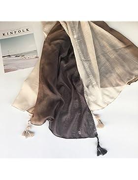 Mantón Bufanda Wrap Señoras Chales Bufandas Moda Mujer hermosos colores suaves sábanas de algodón pañuelos de...