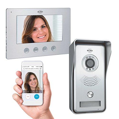"""ELRO IP Video Türsprechanlage DV447WIP - 7\"""" Farbdisplay, Kamera mit Nachtsicht, Kommunikation mit Live Video über App"""