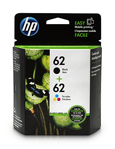 HP 62 Black & Tri-color Original Ink Cartridges, Pack of...