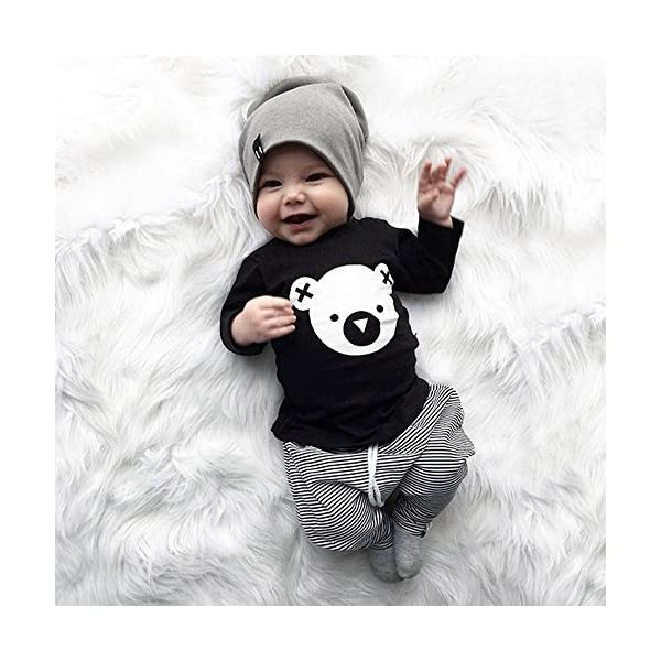 VECDY Ropa Bebe Niña 2PC Ropa Recién Nacido Infantil Bebé Niños Carta Imprimir Chaleco Tops Camiseta Sin Manga Denim… 3