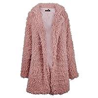 U-shot Ladies Winter Shaggy Faux Fur Elegant Party Cardigan Coat