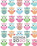 Agenda 2020: Diario Agenda Settimanale Datato con Calendario,  Date da Ricordare, Obiettivi, Priorita' e spazio Appunti per i tuoi Pensieri!  Weekly ... Settimana su Due Pagine. Copertina Gufetti