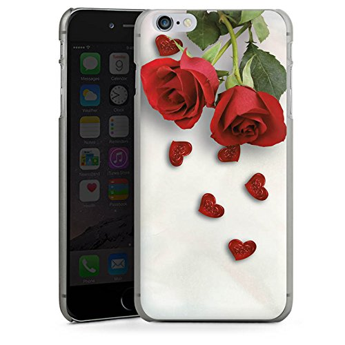 Apple iPhone X Silikon Hülle Case Schutzhülle Rose Roses and Hearts Herz Hard Case anthrazit-klar
