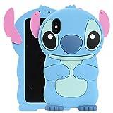 Coque pour iPhone XR 15,5cm, Phenix-color 3D Mignon Dessin animé Souple en Silicone Stitch Hello Kitty Love Ours Coque arrière en Gel pour iPhone XR 15,5cm #53