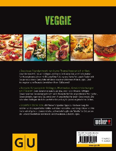 51LLhxuGK0L - Weber's Veggie: Die besten Grillrezepte (GU Weber's Grillen)