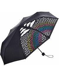 Fare - parapluie pliant original - magique - couleur change sous la pluie - Noir - Arc en ciel - COLORMAGIC - 5042C
