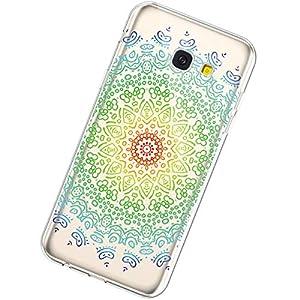 Urhause Kompatibel mit Samsung Galaxy A5 2017,Kreativ Malerei Mandala Muster Handyhülle Ultra Slim Weich Flexibel TPU…